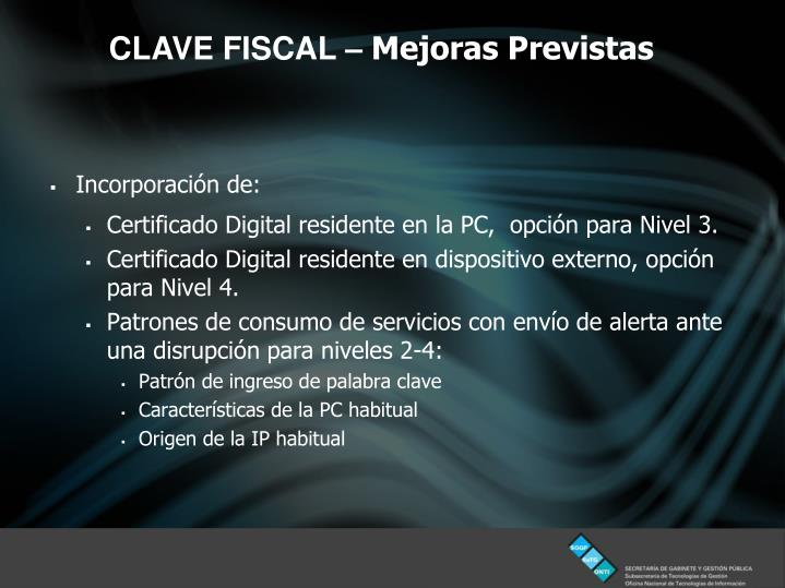 CLAVE FISCAL –