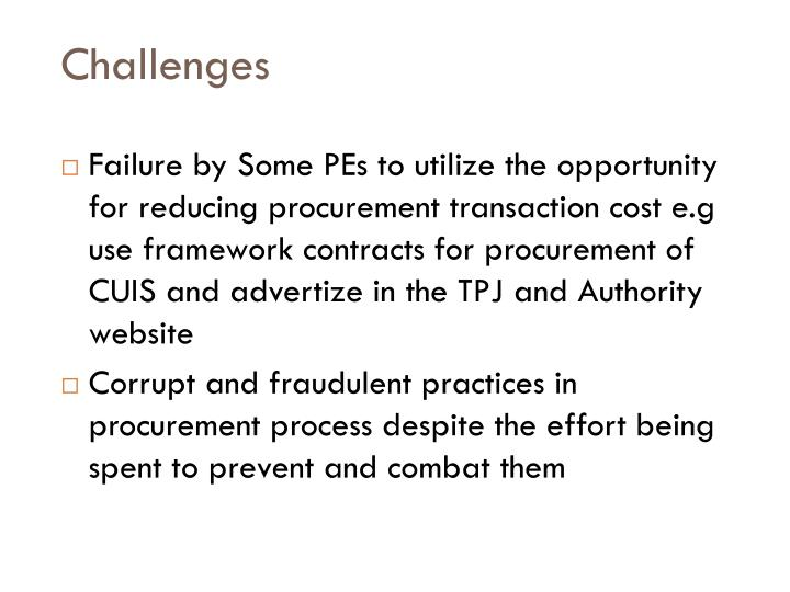 corrupt practices in procurement