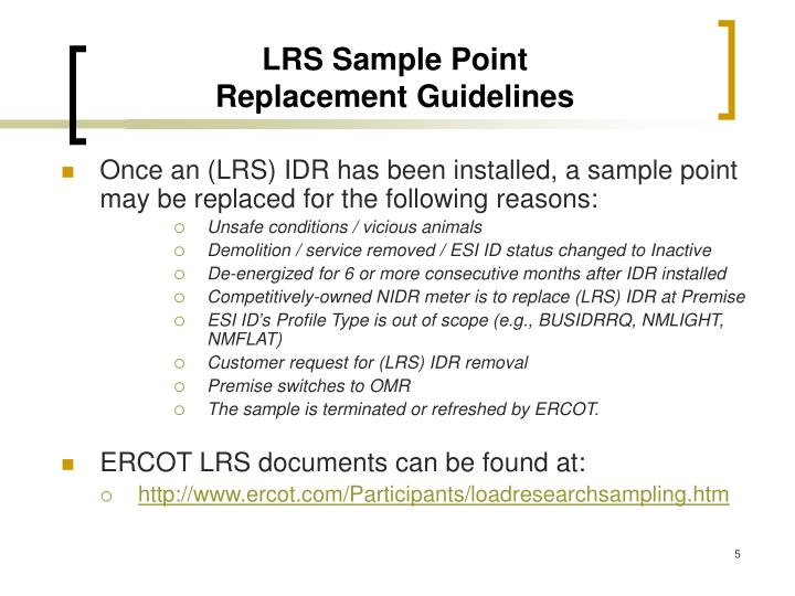 LRS Sample Point