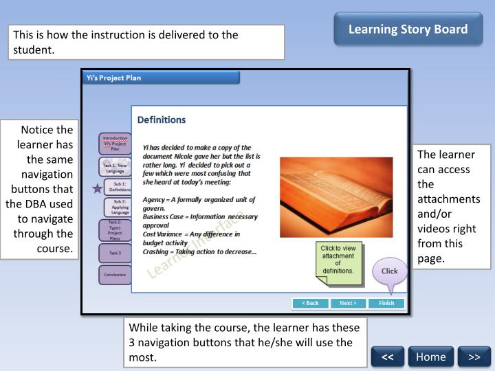 Learning Story Board