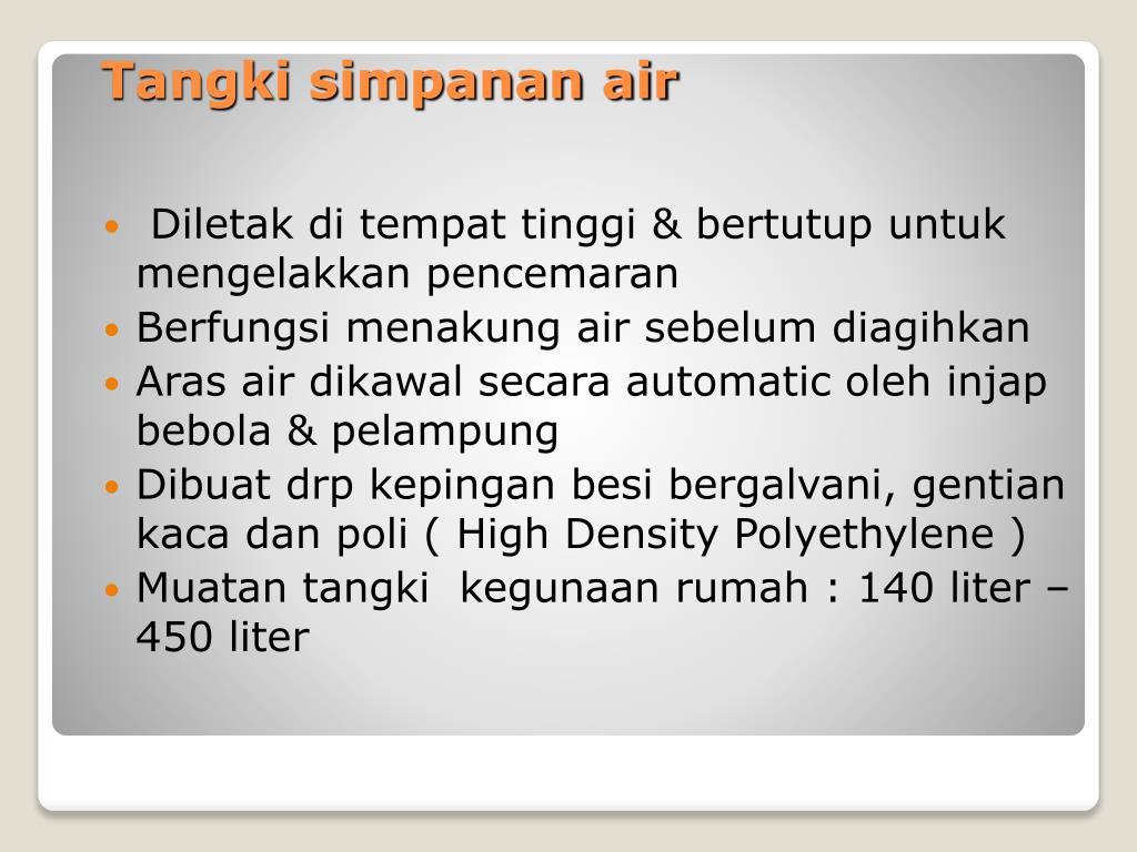 PPT - Sistem Bekalan Air di rumah PowerPoint Presentation ...