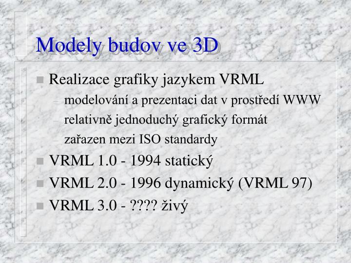 Modely budov ve 3D