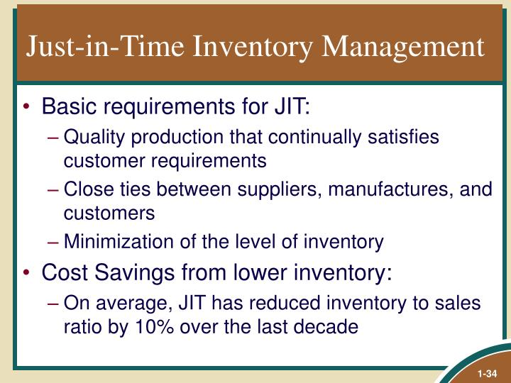 Just-in-Time Inventory Management