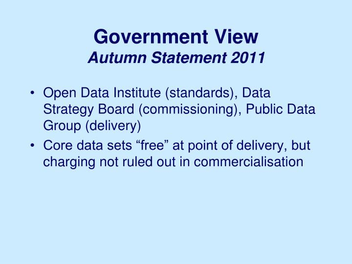 Government View