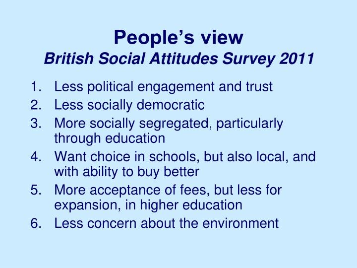 People's view