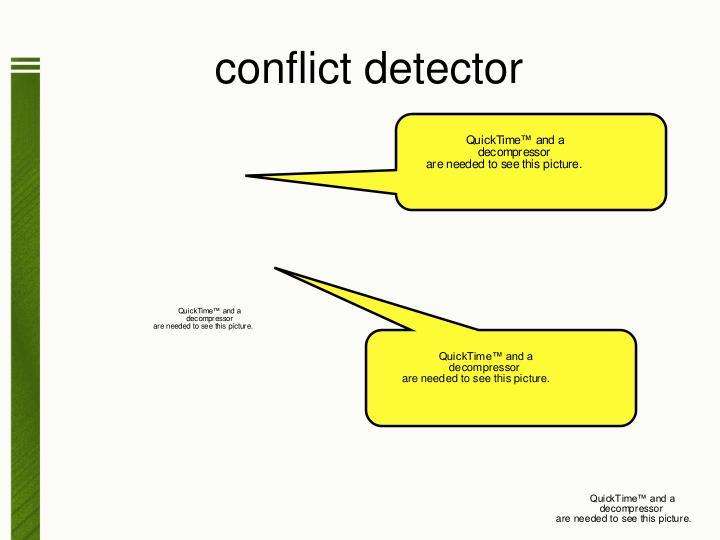 conflict detector