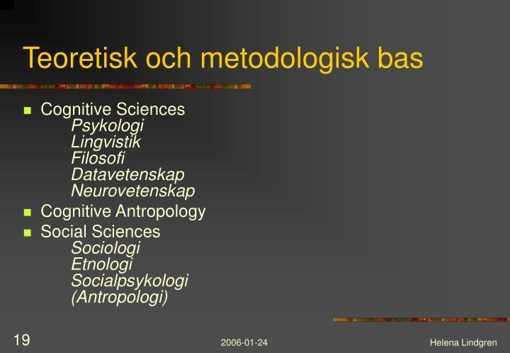 Teoretisk och metodologisk bas