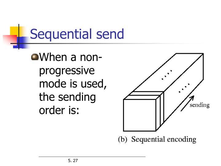 Sequential send
