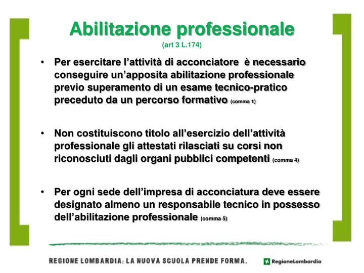 Abilitazione professionale