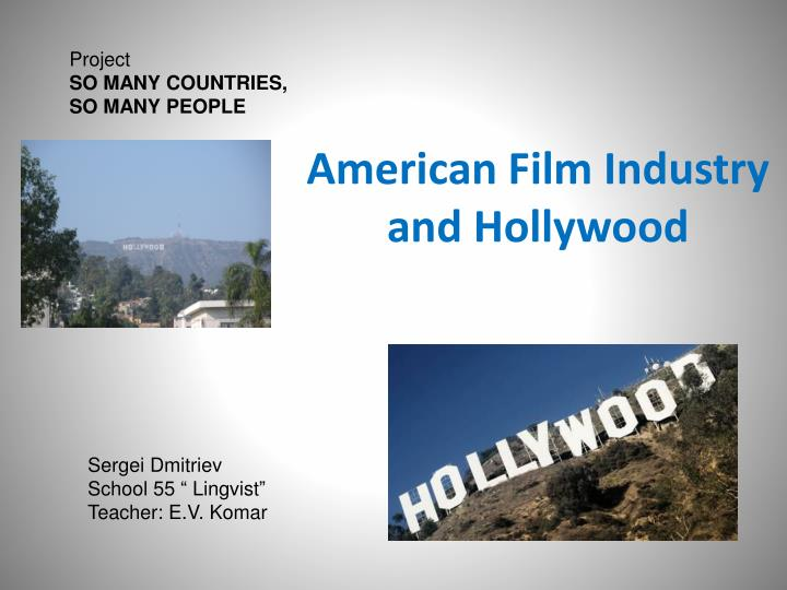 american film industry and hollywood n.