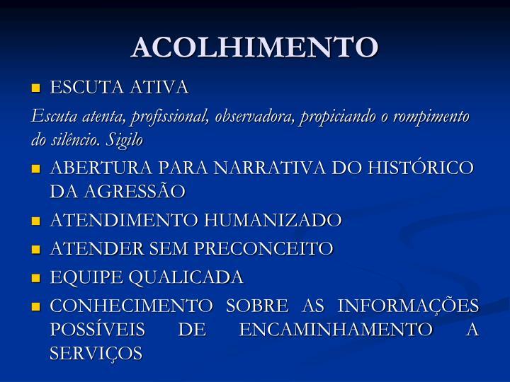 ACOLHIMENTO