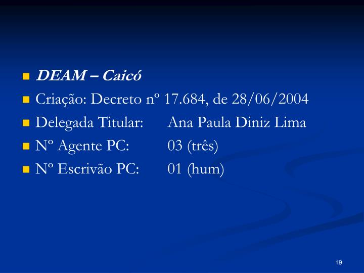DEAM – Caicó