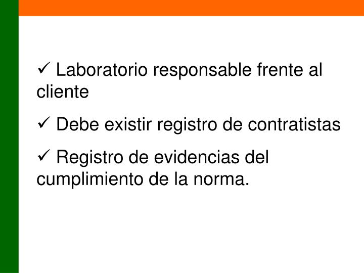 Laboratorio responsable frente al cliente