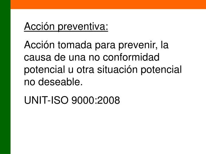 Acción preventiva: