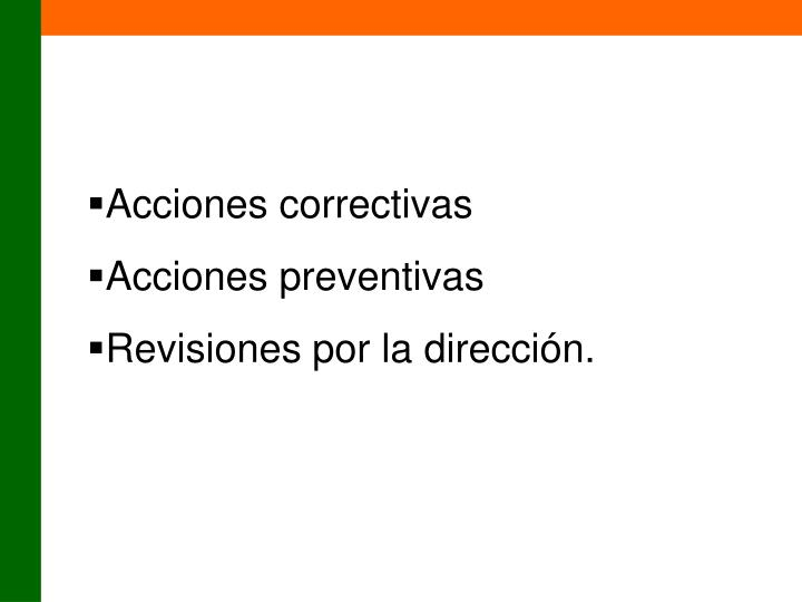 Acciones correctivas