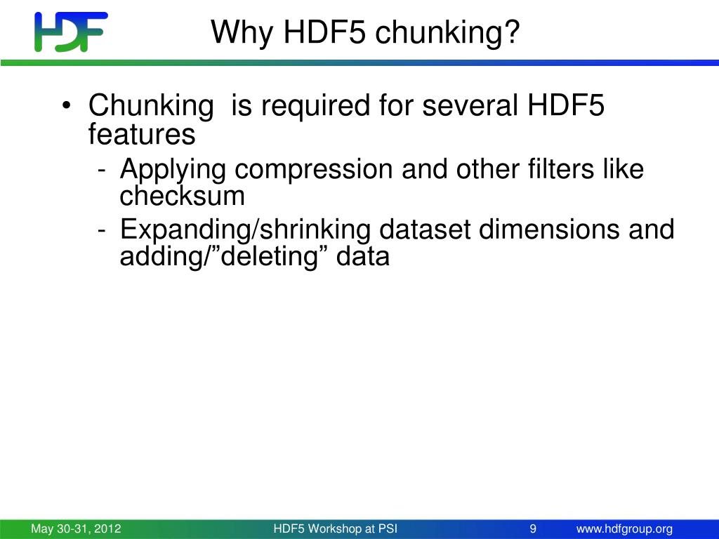 PPT - HDF5 Chunking PowerPoint Presentation - ID:4309703