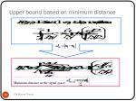 upper bound based on minimum distance