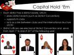capital hold em