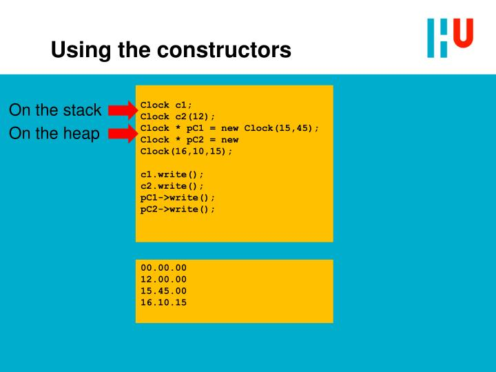 Using the constructors