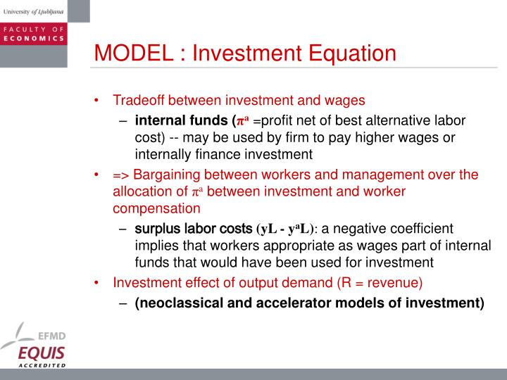 MODEL : Investment Equation