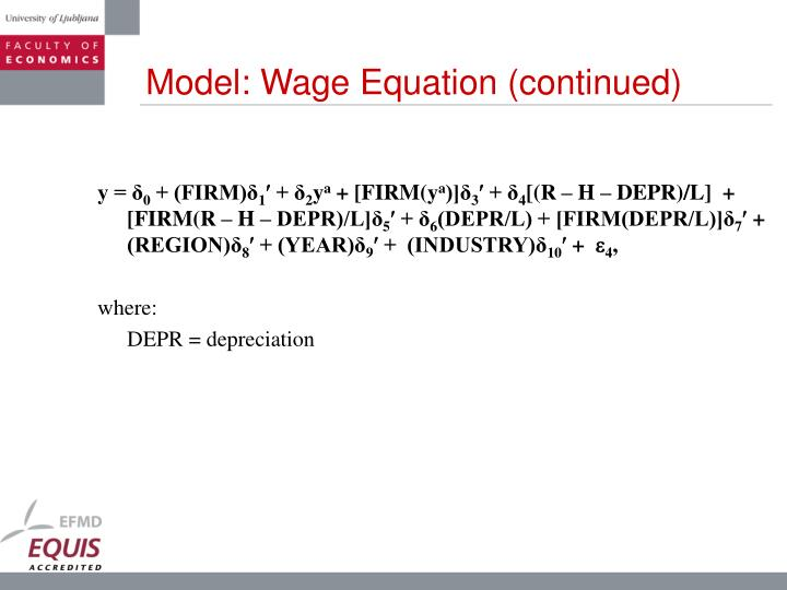 Model: Wage Equation (continued)