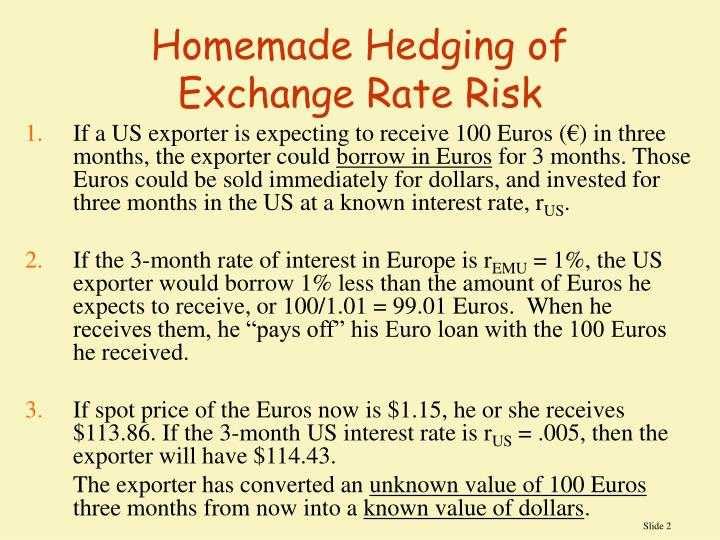 Homemade Hedging Of Exchange Rate Risk