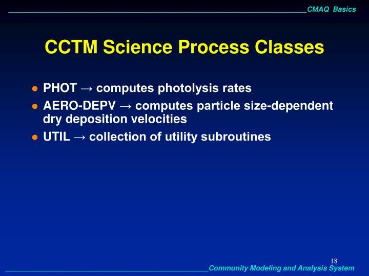 CCTM Science Process Classes