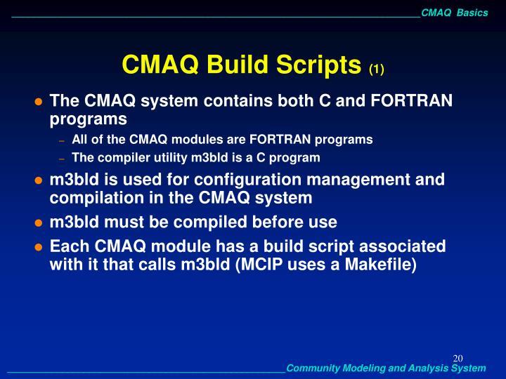 CMAQ Build Scripts