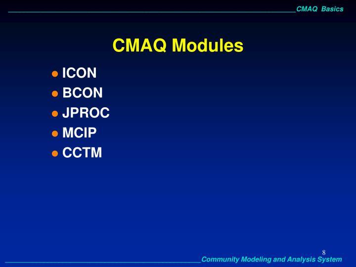CMAQ Modules