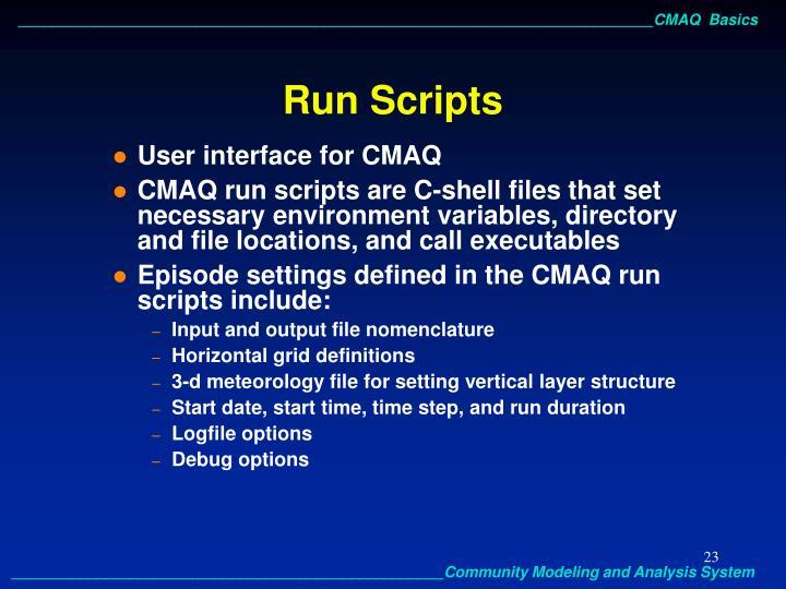 Run Scripts