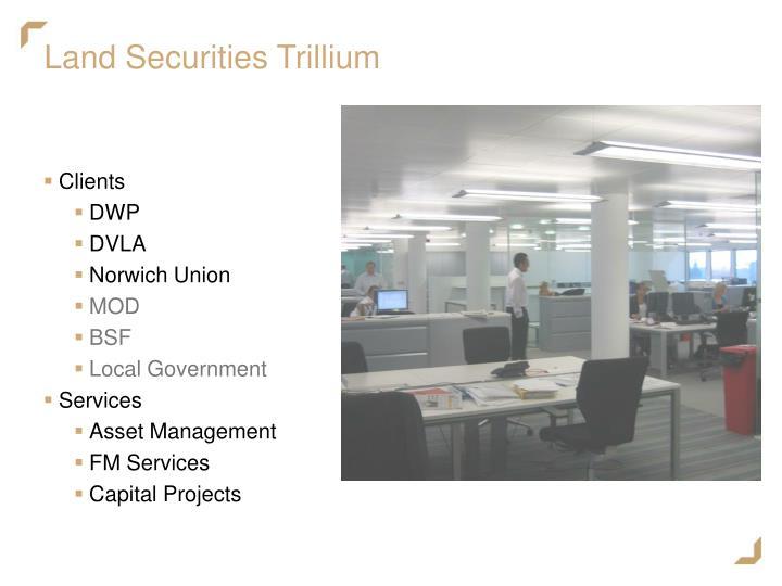Land securities trillium
