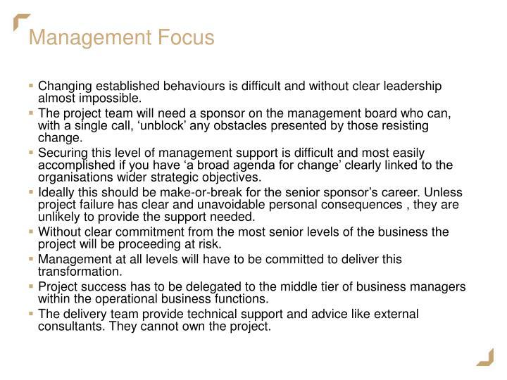 Management Focus