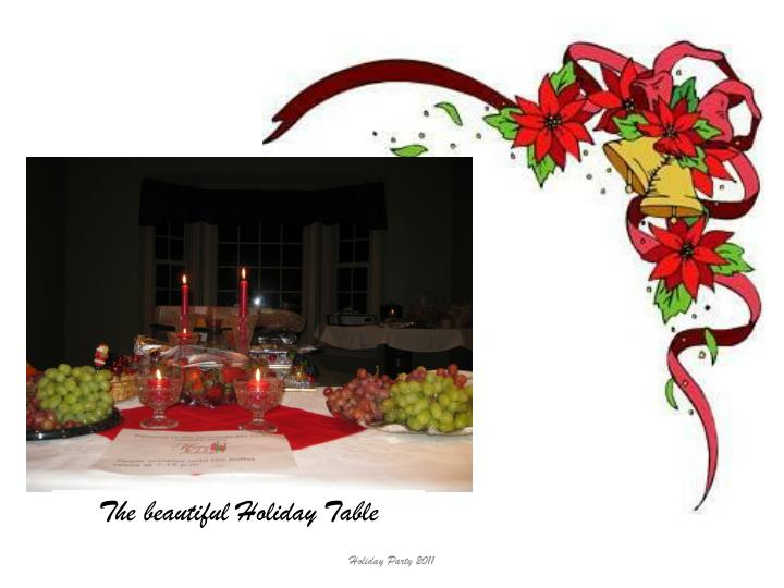 The beautiful Holiday Table