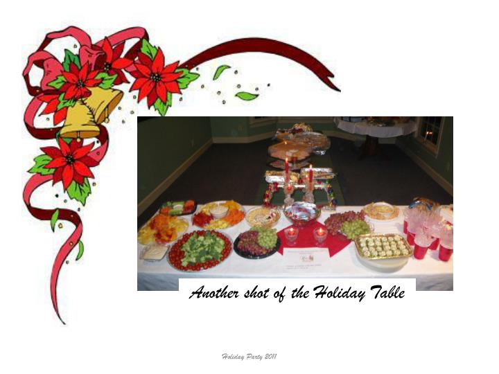 Another shot of the Holiday Table