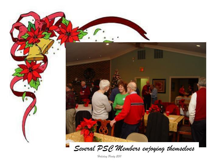 Several PSC Members enjoying themselves