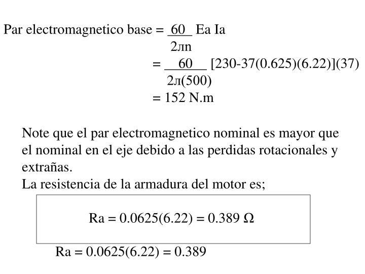 Par electromagnetico base =