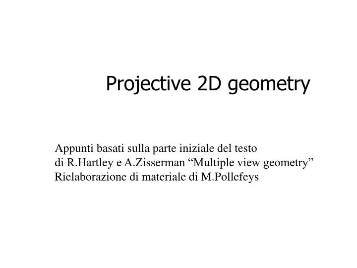 ppt projective 2d geometry powerpoint presentation id 4310284