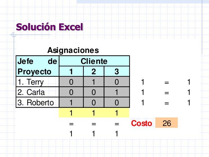 Solución Excel