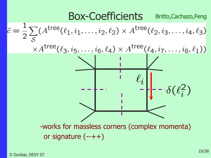 Box-Coefficients