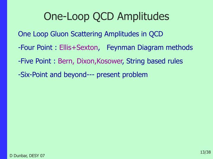 One-Loop QCD Amplitudes