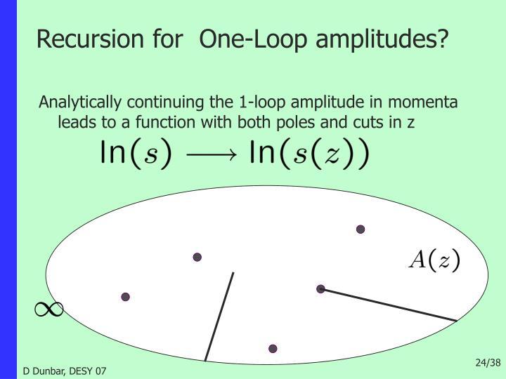 Recursion for  One-Loop amplitudes?