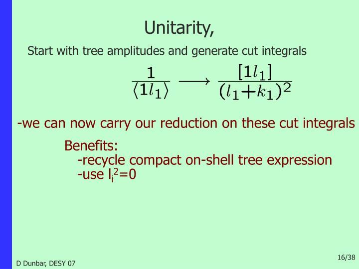 Unitarity,