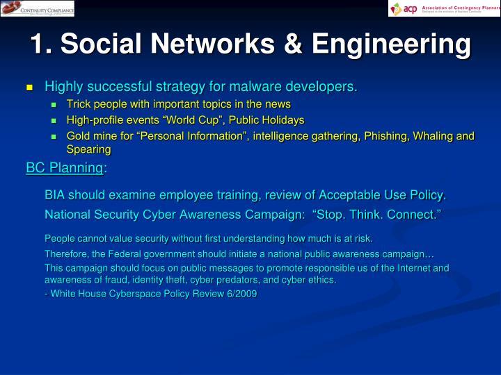 1. Social Networks & Engineering