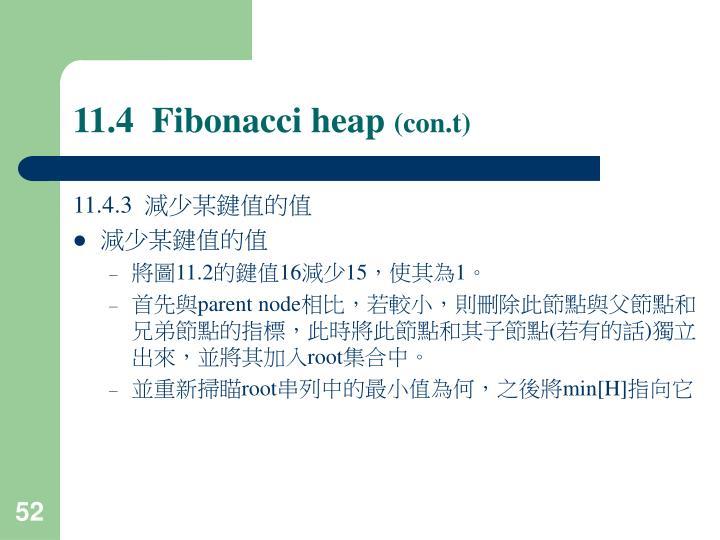 11.4  Fibonacci heap