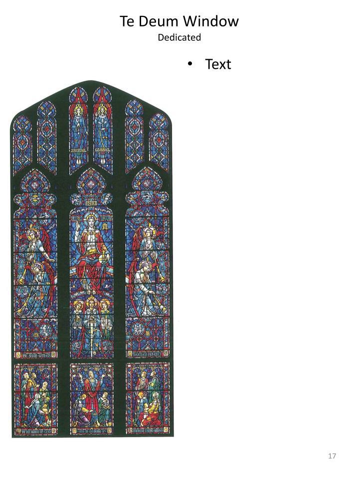 Te Deum Window