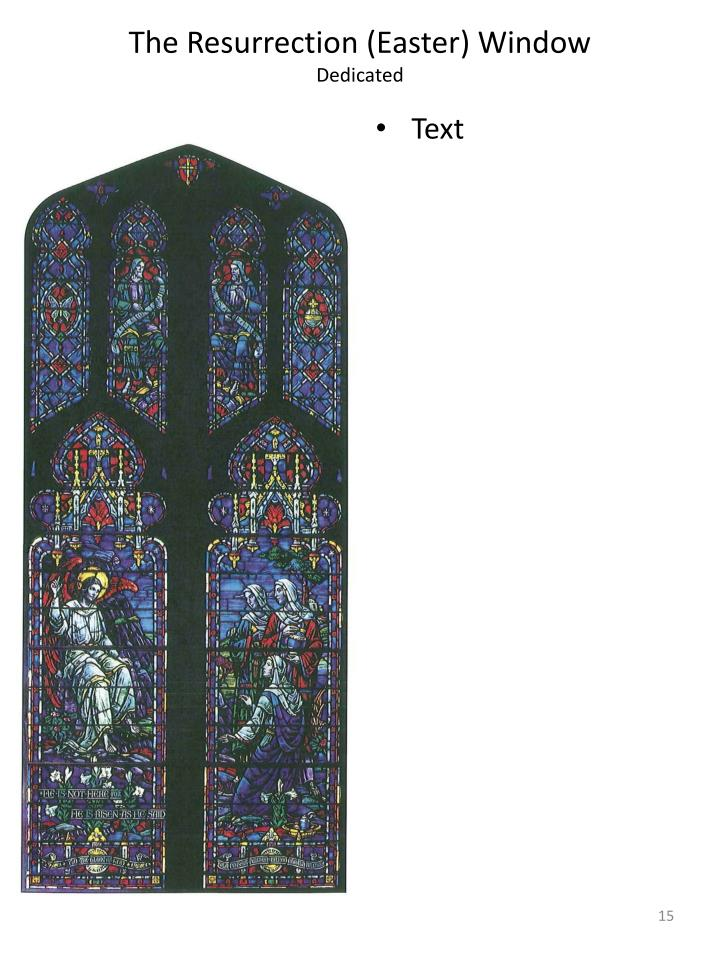 The Resurrection (Easter) Window
