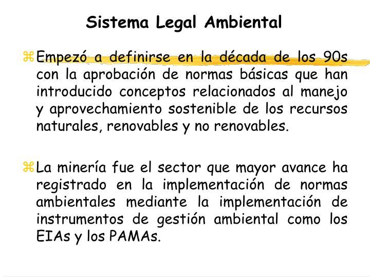 Sistema Legal Ambiental
