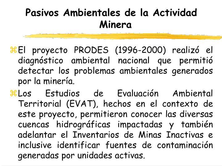 Pasivos Ambientales de la Actividad Minera