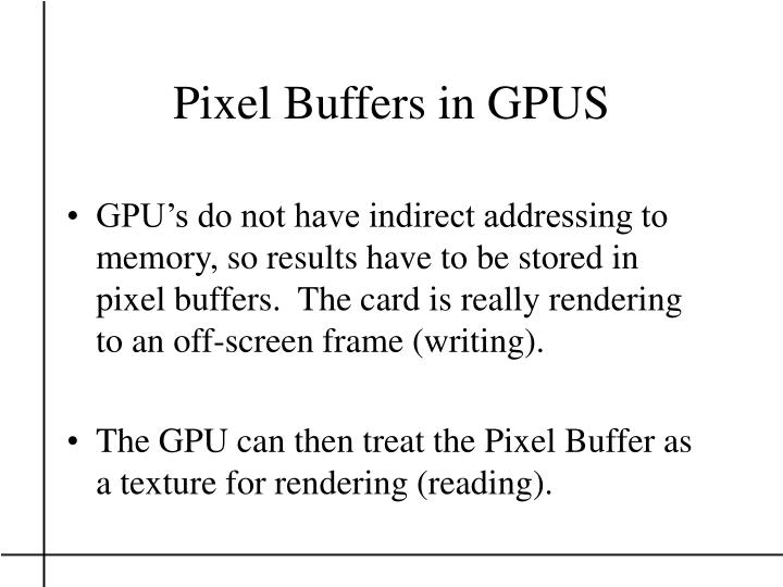 Pixel Buffers in GPUS