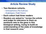 article review study
